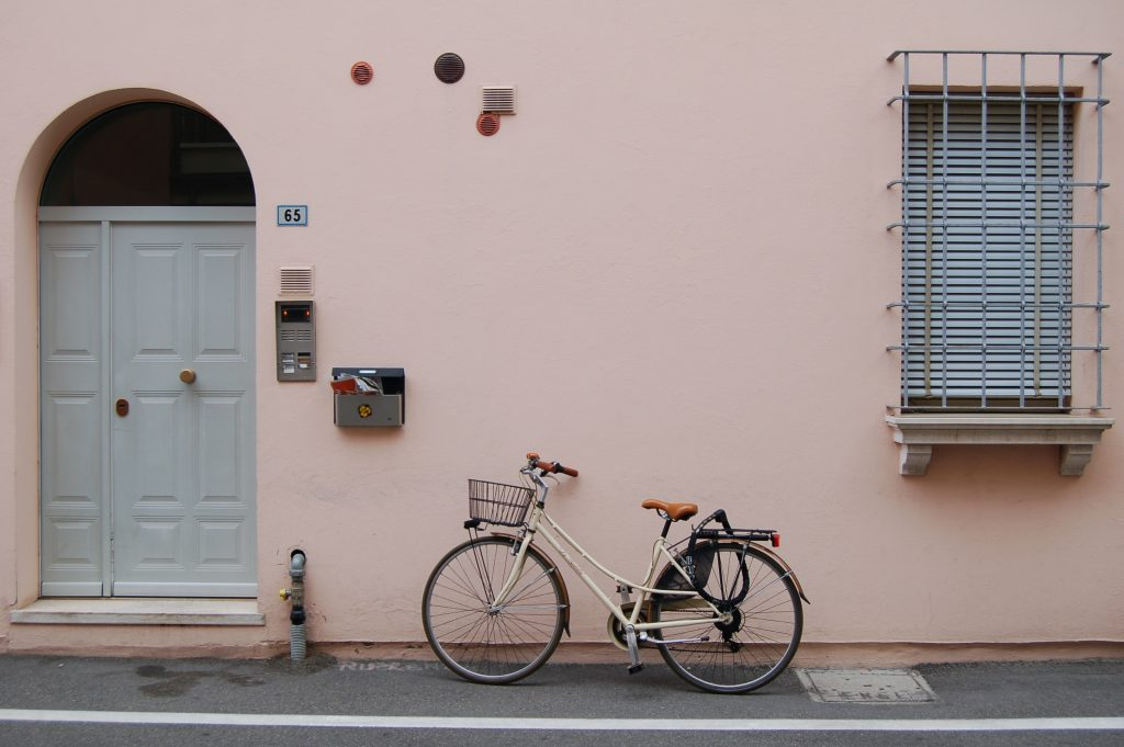 Photograph of a door and a bycicle by Chris Barbalis